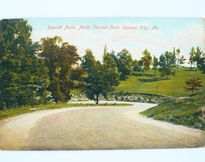 1907 Scarritt Point North Terrace Park Kansas City Missouri Vintage Postcard Posted