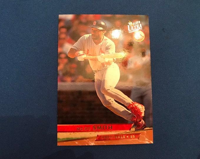 1993 Fleer Ultra #113 Ozzie Smith Cardinals HOF Vintage Baseball Card