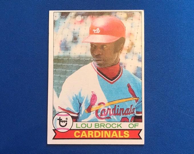 1979 Topps #665 Lou Brock Cardinals HOF Vintage Baseball Card