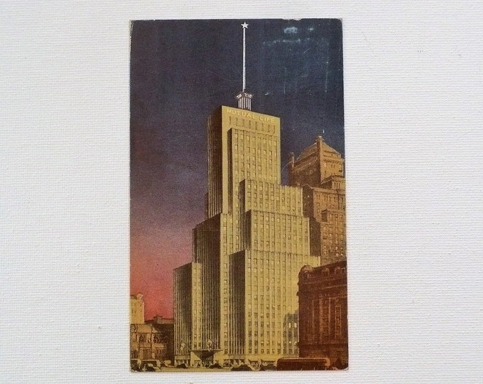 1950 Mutual Life Building New York City Vintage Postcard Posted