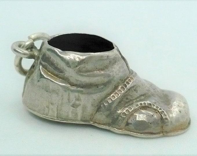 Silver Vintage Shoe Charm