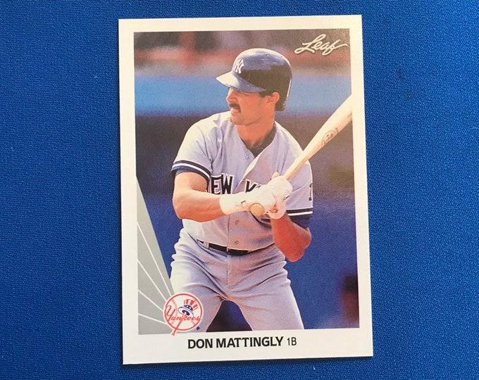 1990 Leaf #69 Don Mattingly Yankees HOF Vintage Baseball Card