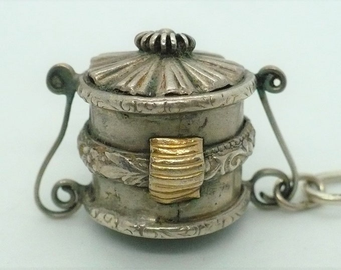 Bento Box Charm Japanese Silver Souvenir Charm