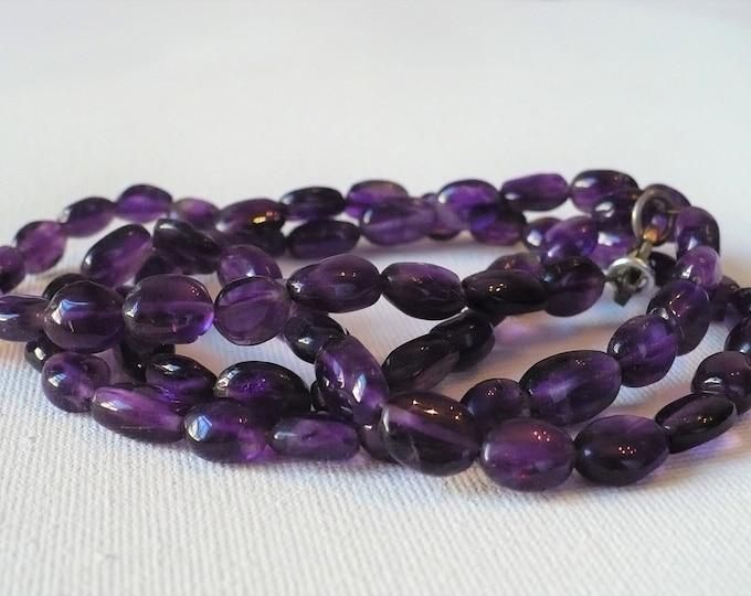 7mm Iolite Gemstone Bead Necklace 29 inch