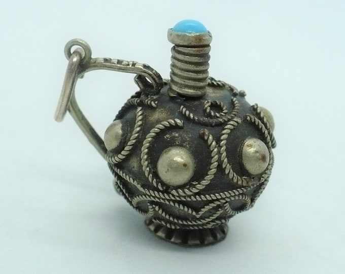 Decanter Charm Bali Silver Indonesian Souvenir Vintage Jewelry