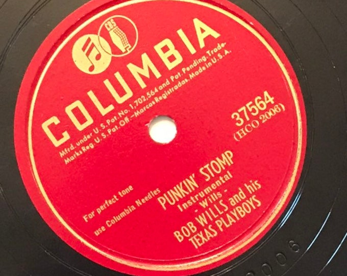 1940's Vintage 78 Record Punkin' Stomp; How Can it Be by Bob Willis and His Texas Playboys Country Columbia 37564