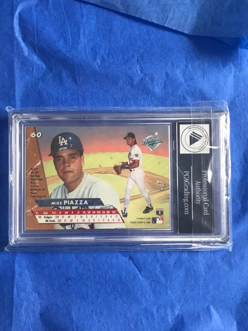 1993 Fleer Ultra Rookie Card Rc 60 Mike Piazza Baseball Collectors Card Pca 9 Mint