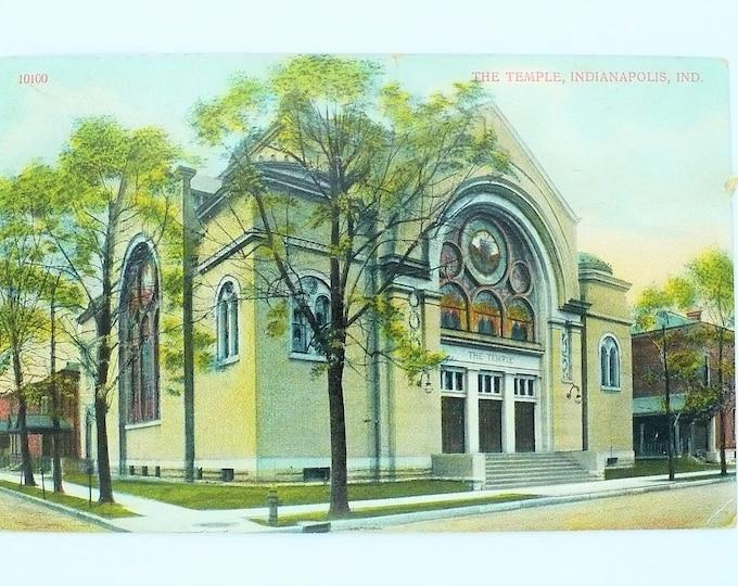 1908 Hebrew Temple Indianapolis Indiana Later Rev Jim Jones Vintage Postcard