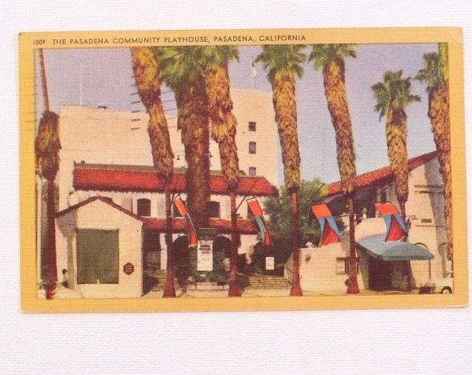 1953 Community Playhouse Pasadena California Vintage Postcard Posted