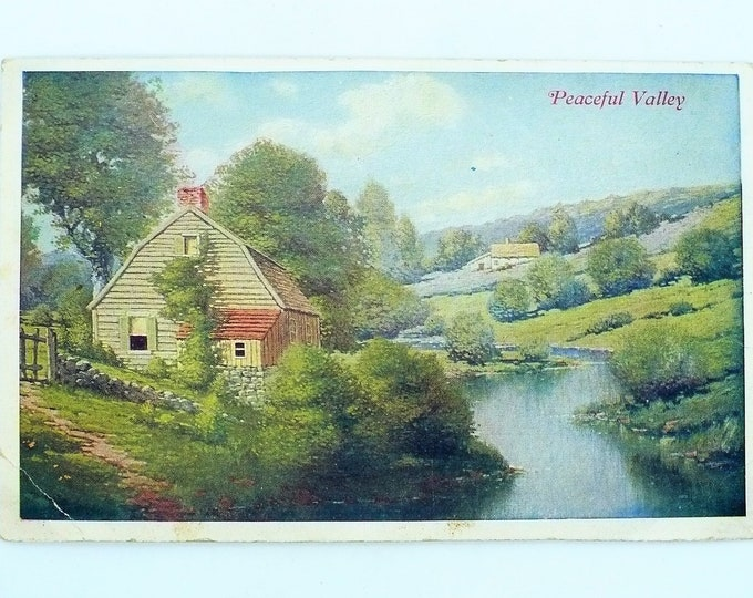 1907 Peaceful Valley Indianapolis Star Supplement Indiana Vintage Postcard Unposted