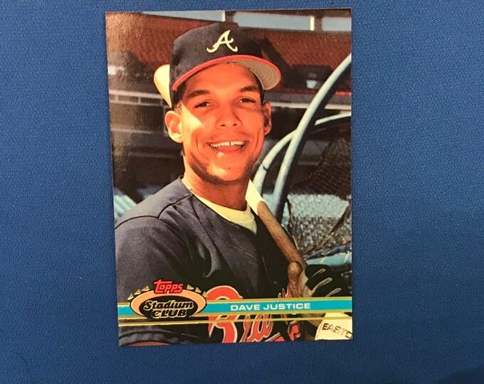 1999 Topps Stadium Club #26 Dave Justice Braves Vintage Baseball Card