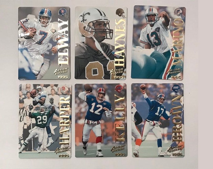 Lot 1995 Action Packed Quick Silver #14 #19 #21 #26 #28 #34 Vintage Football Cards