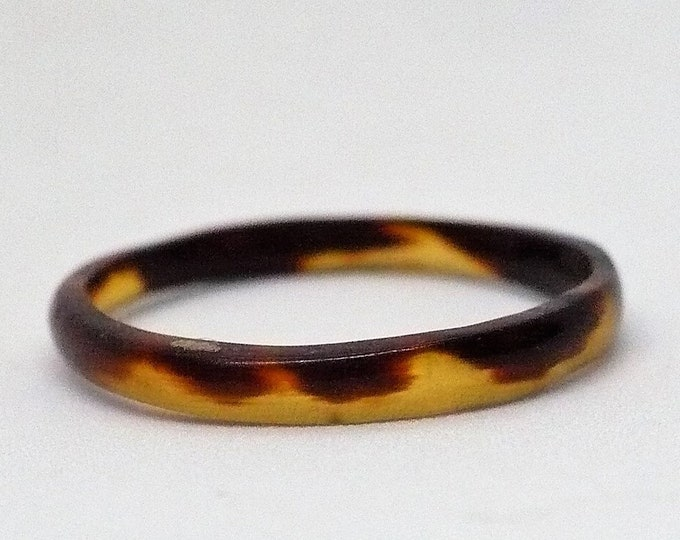 sz 7 Vintage Simulated Turtle Shell Band Ring