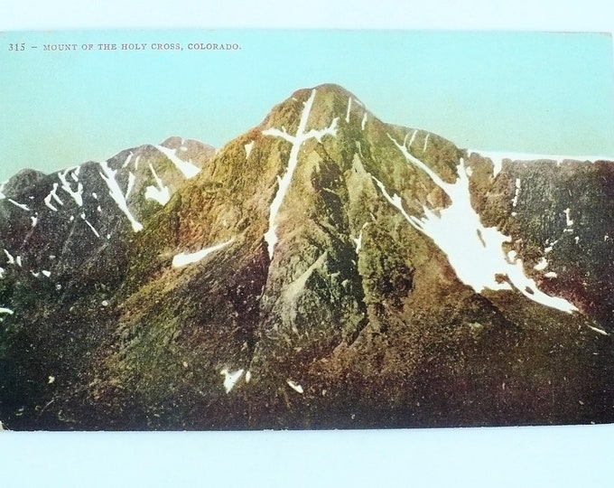 1907 Mount Holy Cross Rocky Mountains Colorado Vintage Postcard Unposted