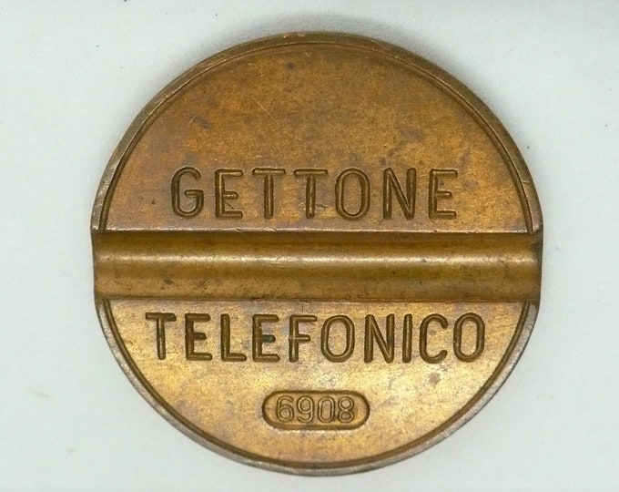 Italy Gettone Telefonico 6908 Token Exonumia Vintage Telephone Error Token