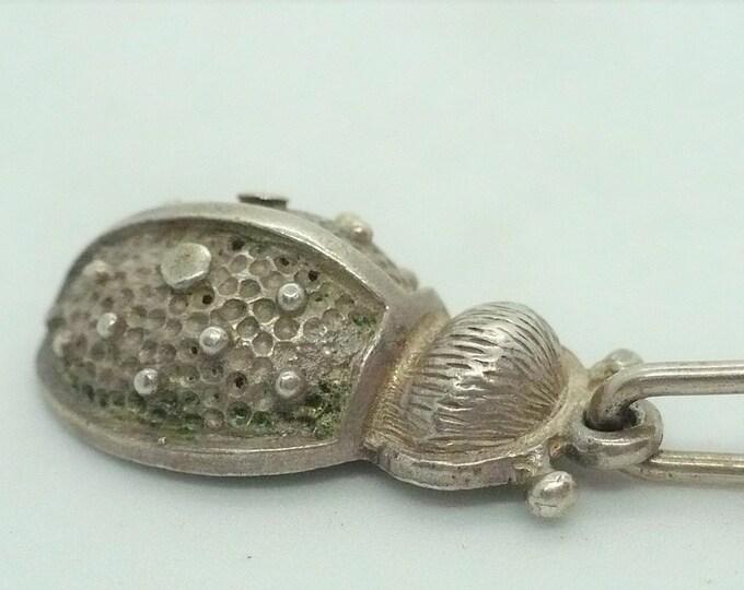 Ladybug Charm Vintage Silver Charm
