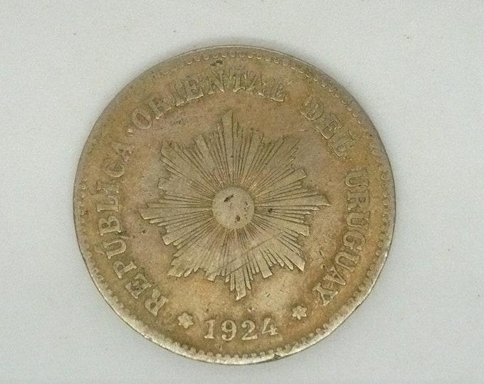 Uruguay 1924 5 Centesimos Coin