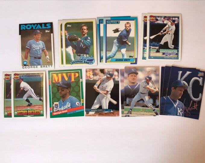 Lot George Brett HOF Vintage Baseball Cards