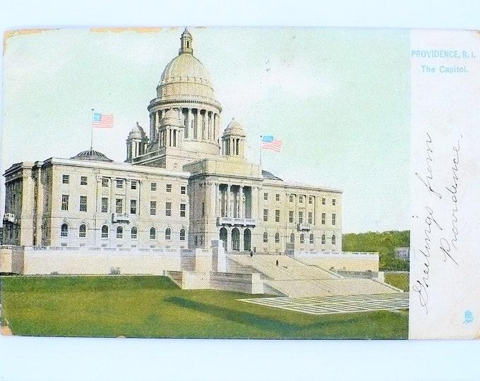 1907 Capital Providence Rhode Island Vintage Postcard