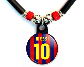 Lionel Messi FC barcelona jersey necklace