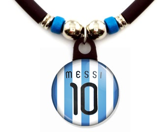 Lionel Messi Argentina jersey necklace