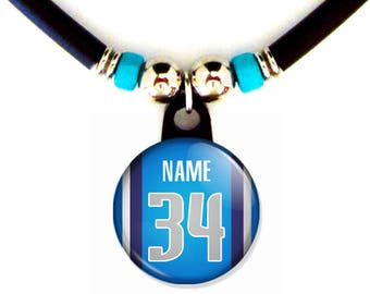 Personalized Dallas  Basketball Jersey Necklace