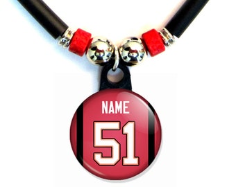Personalized Tampa Bay football Jersey Necklace With Name and Number