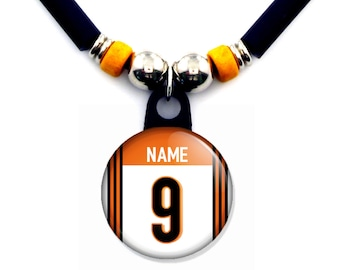 Personalized Cincinnati football Jersey Necklace With Name and Number