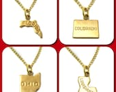 State Charm Necklace - You Choose