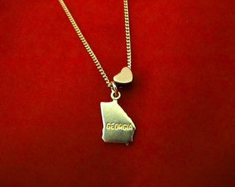 Georgia Love - State Charm Necklace - 18 inches