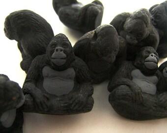 10 Large Gorilla Beads - LG98