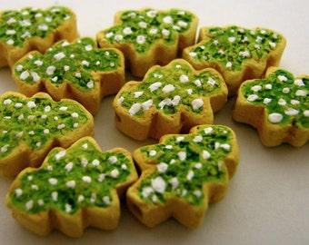 10 perline di Cookie di piccolo albero di Natale - CB734
