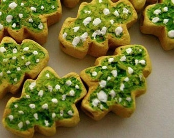 4 Perle di Cookie di piccolo albero di Natale - CB734