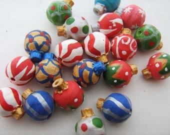 10 perline di ornamento di Natale piccolo - CB658