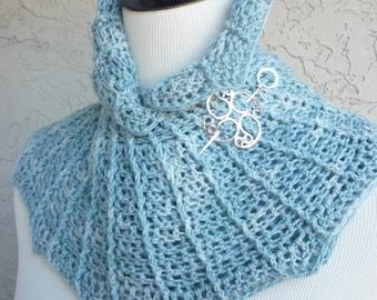 Plumeria Frill Scarf Crochet - PATTERN / PDF