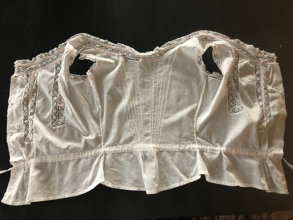Antique Bodice, French Lace Cami, Fancy Corset Co… - image 10