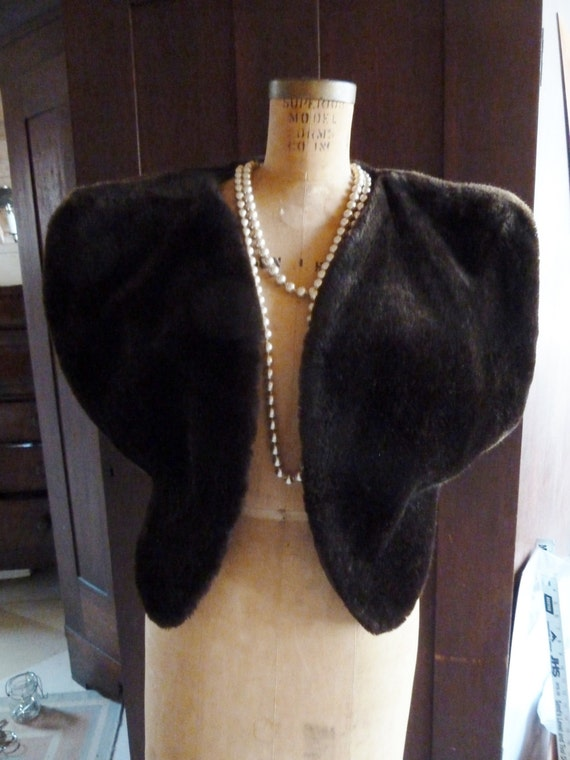 French Faux Fur Vest Large, Chocolate Brown
