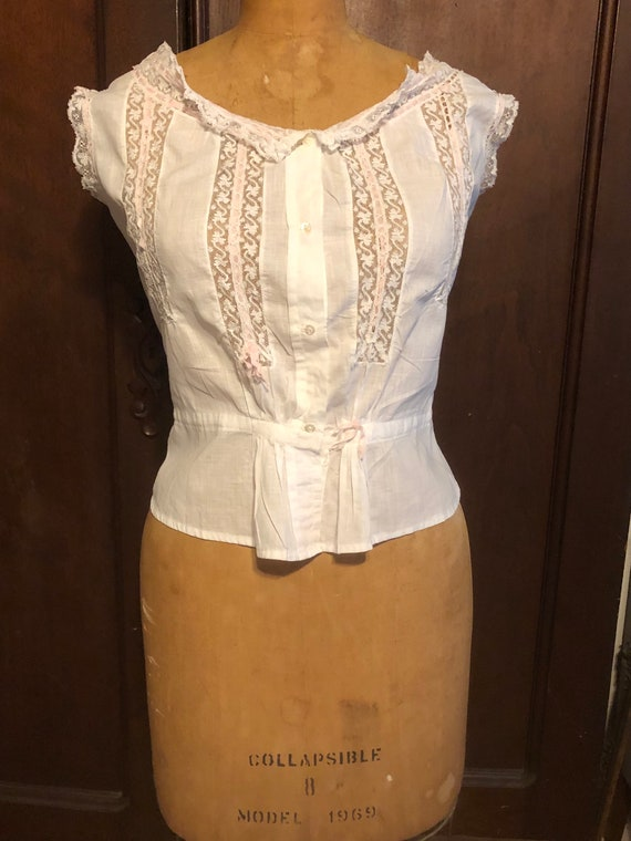 Antique Bodice, French Lace Cami, Fancy Corset Cov