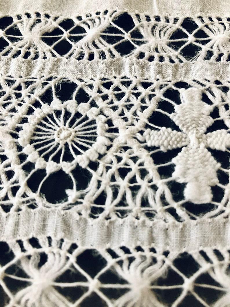 Trousseau Linens Fine Linen and Lace Tablecloth Tenerife Lace Wedding