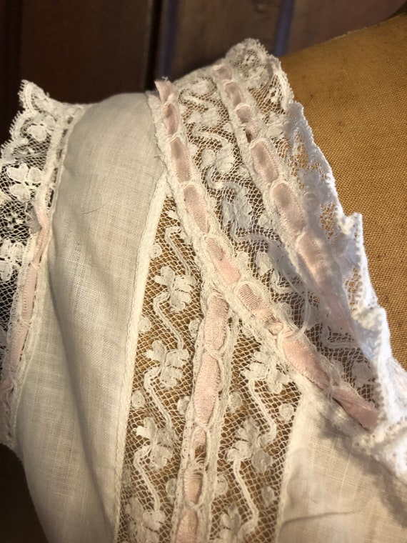 Antique Bodice, French Lace Cami, Fancy Corset Co… - image 7