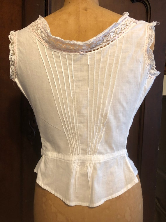 Antique Bodice, French Lace Cami, Fancy Corset Co… - image 4