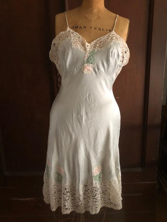 Silk Slip Dress, French Lingerie, Boudoir Gown, 19