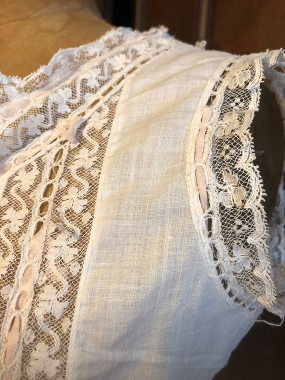 Antique Bodice, French Lace Cami, Fancy Corset Co… - image 6