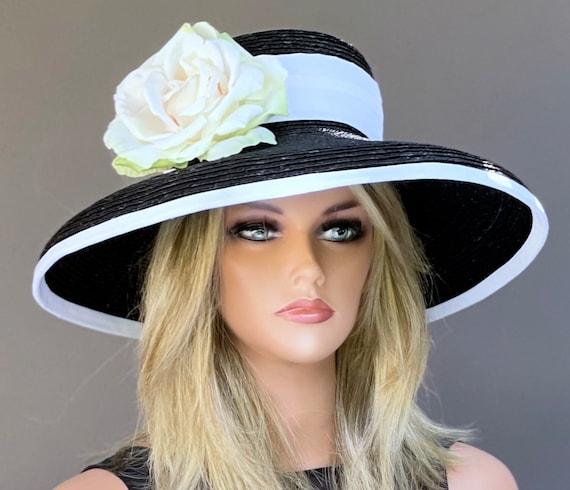 Kentucky Derby Hat, Wedding hat, Church hat, formal hat, Garden Party Hat, Audrey Hepburn Hat, Wide Brim Hat,