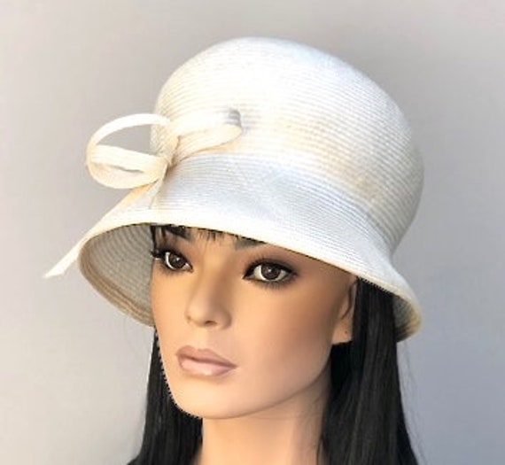 Wedding Hat, Kentucky Derby Hat, Cloche, Downton Abbey Hat, Miss Fisher Hat, Ladies Cream Hat, Tea Party Hat, Garden Party Hat, Ascot Hat