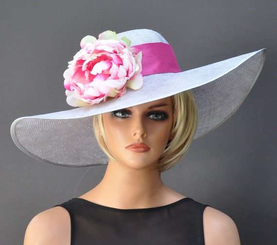 Kentucky Derby Hat, Wedding Hat, Wide Brim Hat, Ascot Hat, Derby Hat, Occasion Hat
