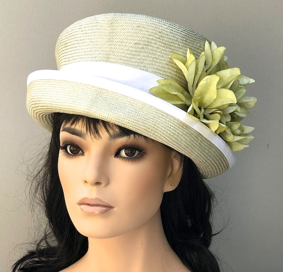 Kentucky Derby Hat, Women's Derby Hat, Ladies Top Hat, Wedding Hat, Celery Green Women's Hat