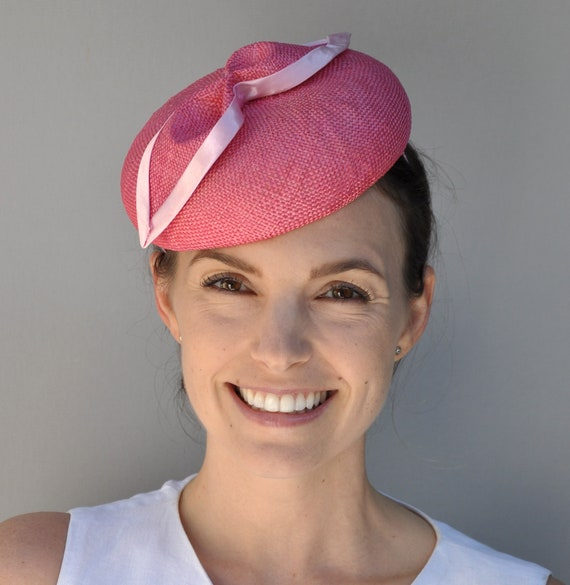 Wedding Hat,  Women's Pink Fascinator Hat, Kate Middleton Hat, Pillbox Hat, Ladies Formal Hat, Special Occasion Hat, Dressy Hat
