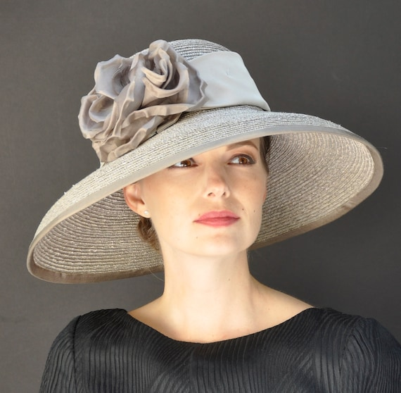 Wedding hat, Kentucky Derby Hat, Formal Hat, Occasion Hat, Taupe Hat, Audrey Hepburn Hat