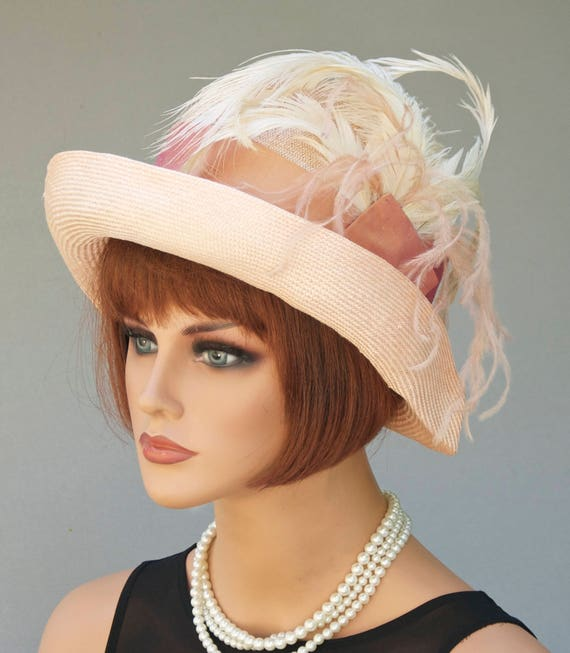 Kentucky Derby Hat, Royal Ascot Hat, Miss Fisher Hat, Formal Hat, Feather Hat, Cloche, Downton Abbey Hat , Gatsby hat, Flapper hat